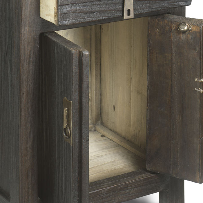 Country Bedside Cabinet, Chocolate