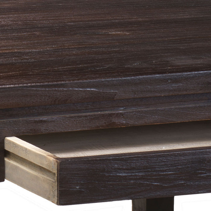 Country Two Drawer Table, Chocolate
