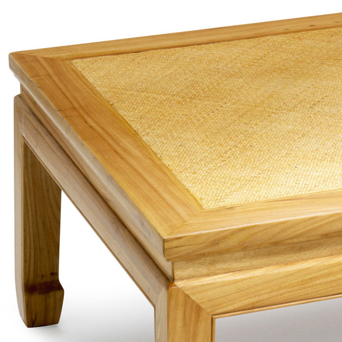 Square Daybed Table, Light Elm