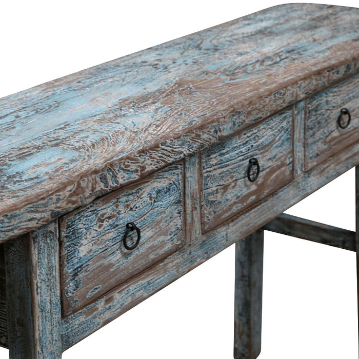 Distressed Blue Henan Console