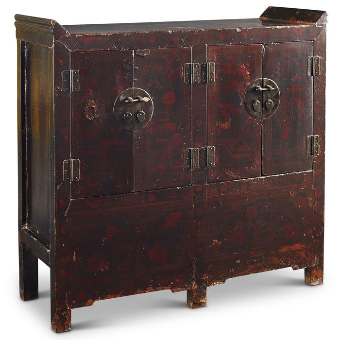 Chinese antique double painted sideboard