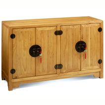Double-Sided Cabinet, Light Elm