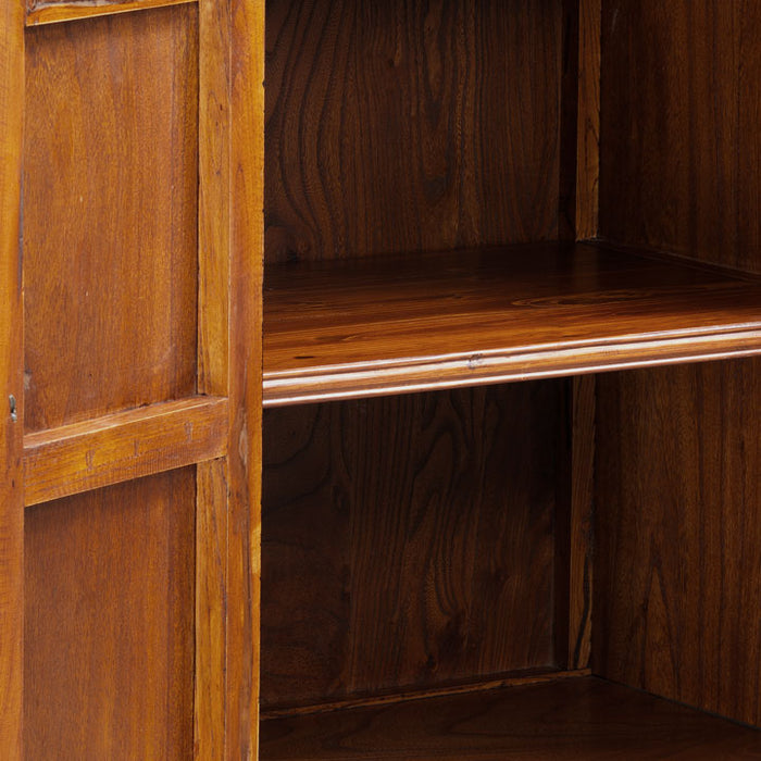 Double-Sided Cabinet, Warm Elm