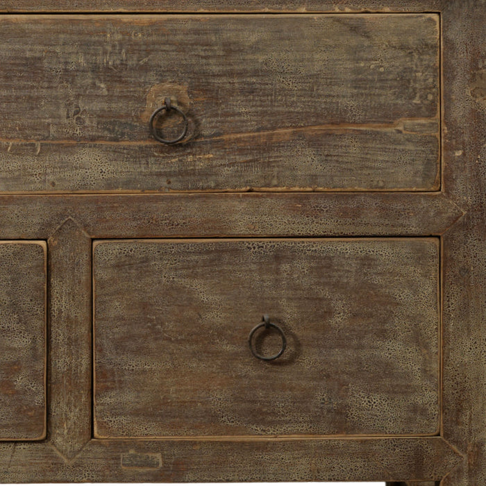 Chinese Antique Elm Five Drawer Chest