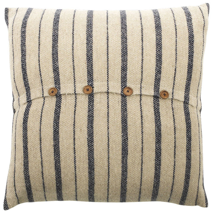 Etawah Cushion Cover, Stone and Navy
