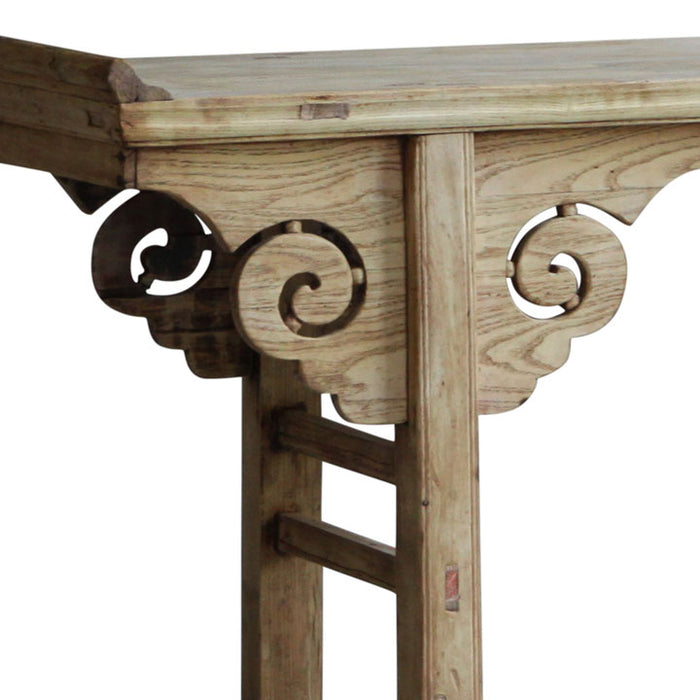 Carved Elm Oriental Altar Table