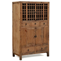 Elm Lattice Door Cabinet