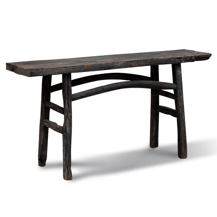Elm Plank Top Console, Chinese Table