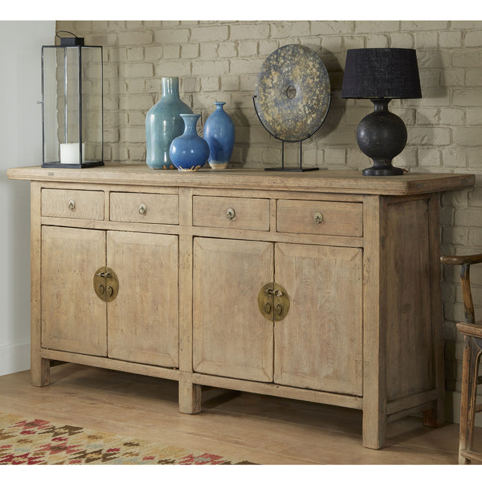 Double Sided Elm Antique Chinese Sideboard