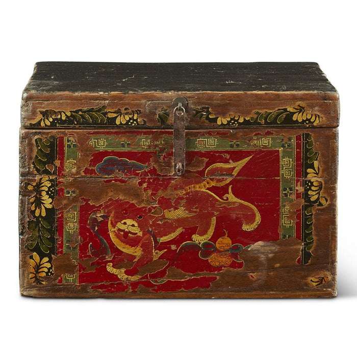 Antique Chinese Foo Dog Box
