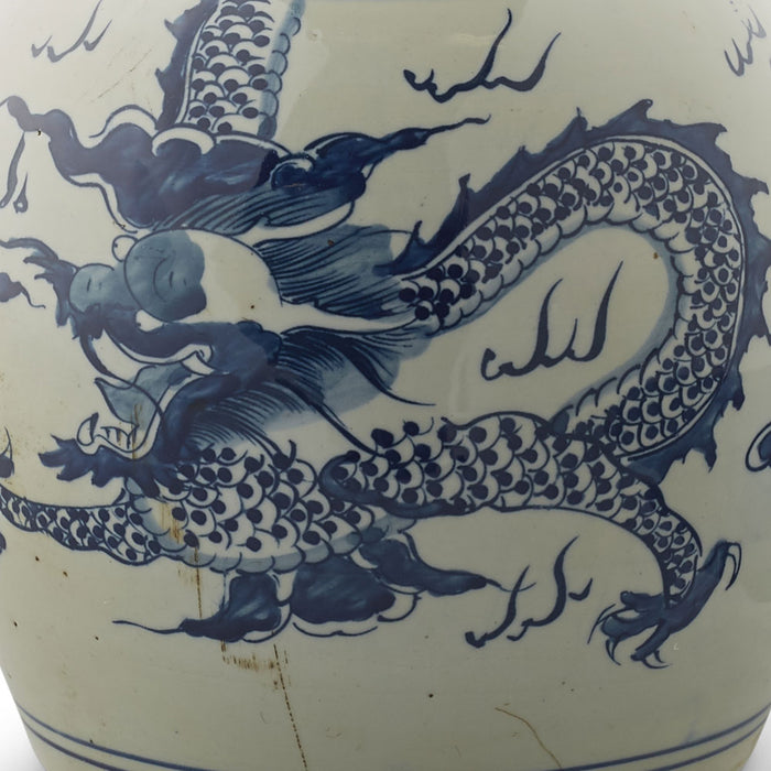 Dragon Ginger Jar Blue and White