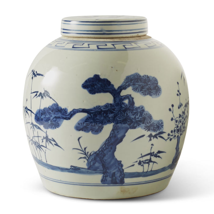 Ginger Jar, Blue and White, Tree
