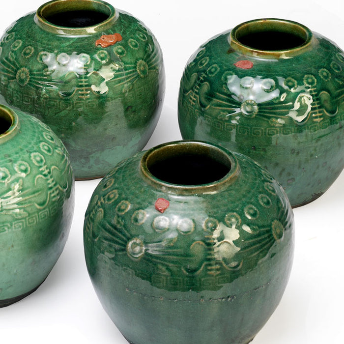 Green Chinese Ginger Jars