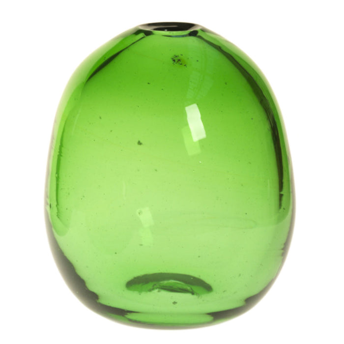 Green Glass Bud Vases