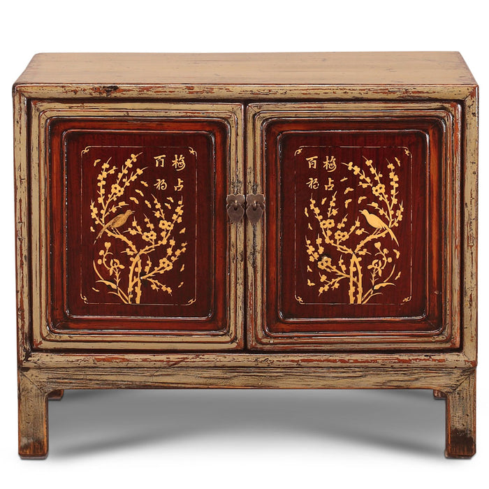 Grey Jiangsu Chinese Antique Side Cabinet