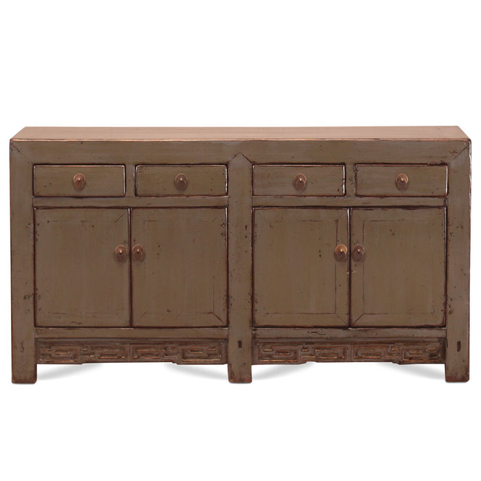 Grey Lacquer Chinese Antique Sideboard
