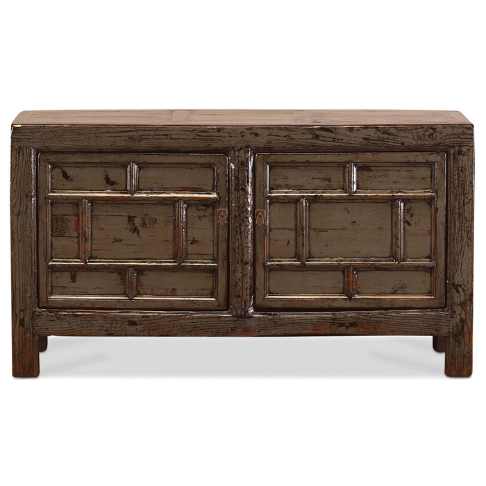 Grey Lacquer Panelled Oriental Sideboard