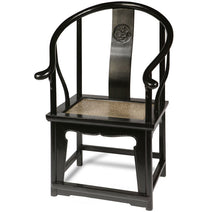 Horseshoe Armchair, Black Lacquer