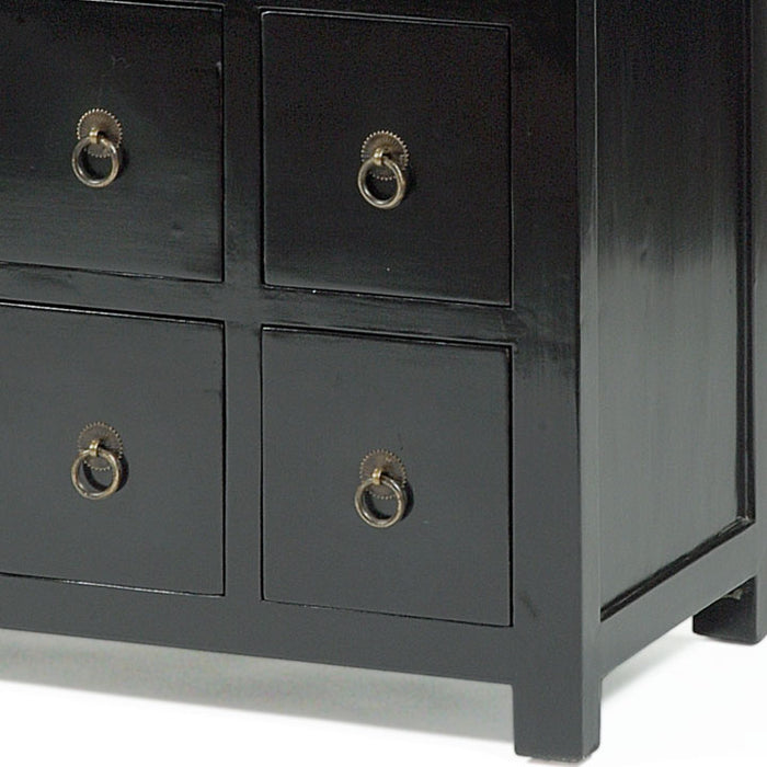 Hundred Eye' Chest, Black Lacquer