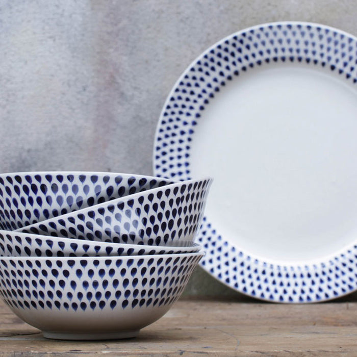 Indigo Drop Cereal Bowl (Set of 4)