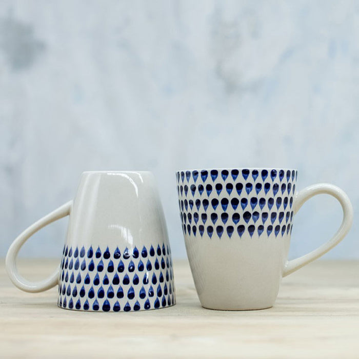 Indigo Drop Tall Mug (Set of 6)