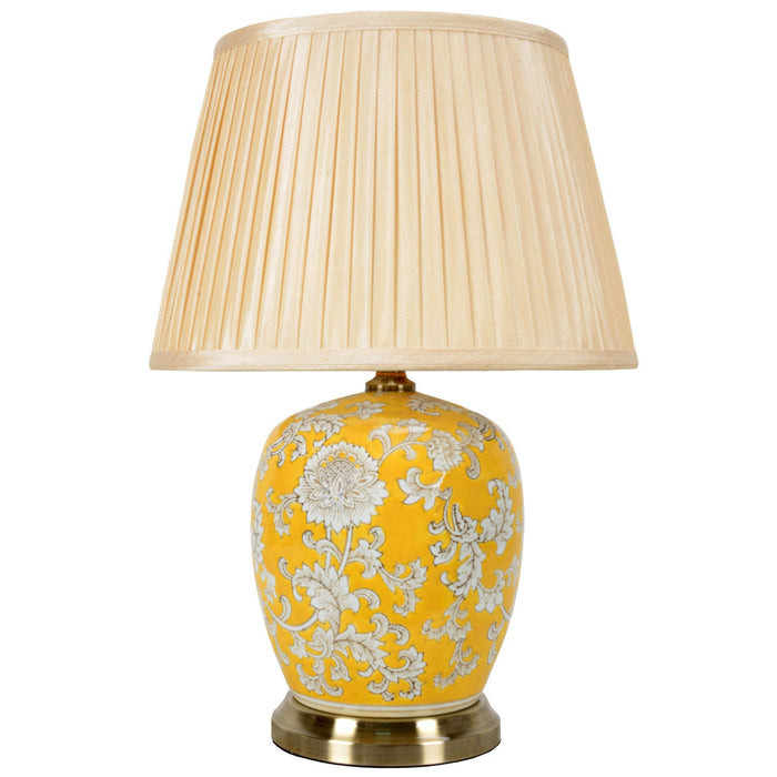 Imperial Yellow Chinese Porcelaine Jar Lamp