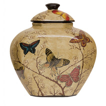 Storage Jar with Butterflies and Blossom