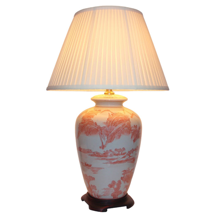 Willow Pattern Lamp Red