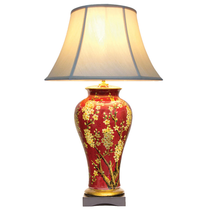 Jasmine Red and Gold Lamp