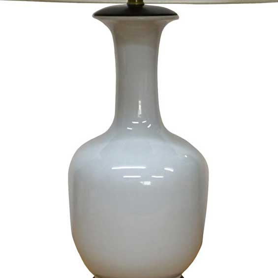 Ivory Bottle Vase Lamp