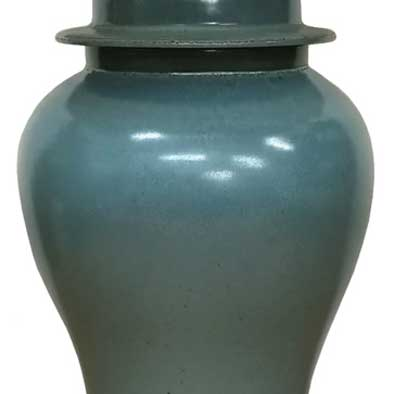 Sea Green Jar Lamp