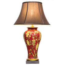 Jasmine Vase Lamp in Red and Gold