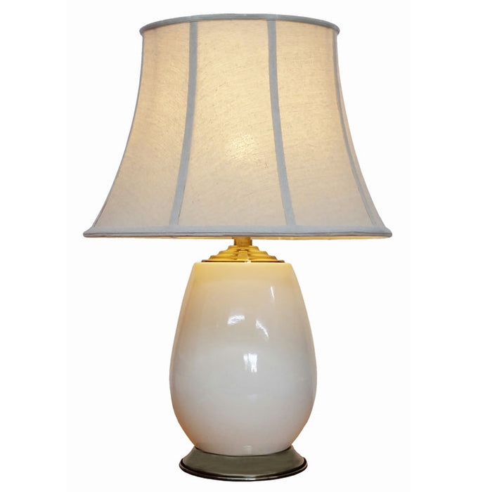 Crackled Ivory Porcelain Lamp