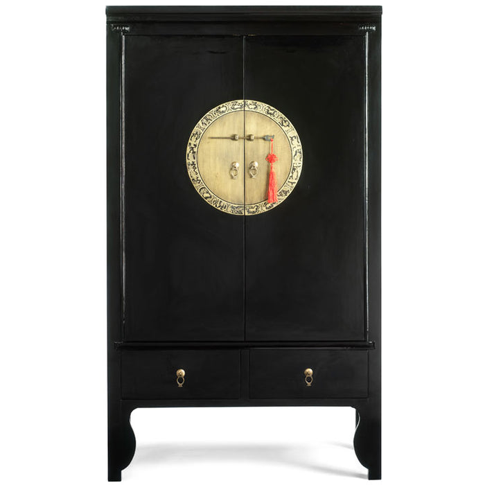 Lacquer Wedding Cabinet, Black Lacquer