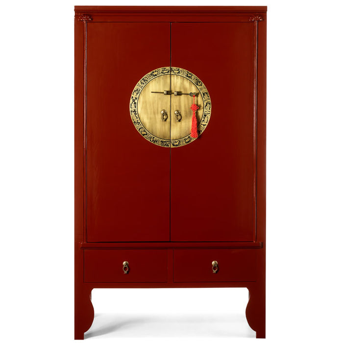 Lacquer Wedding Cabinet, Red Lacquer