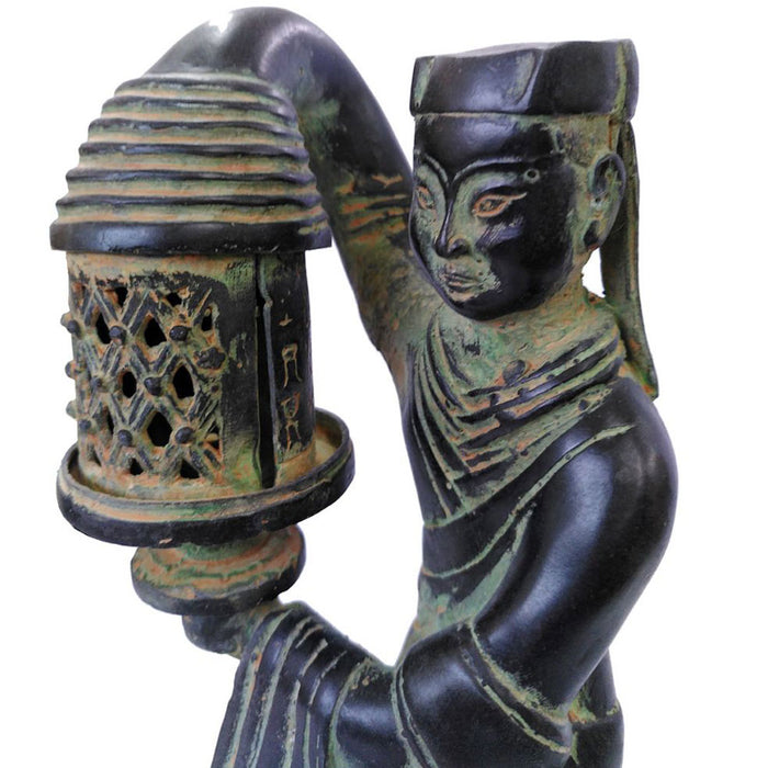 Chinese Bronze Lady with Lantern