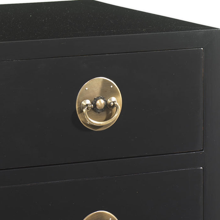 Large Chest of Drawers, Black Lacquer