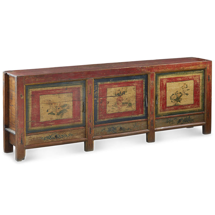 Large Painted Qinghai Sideboard