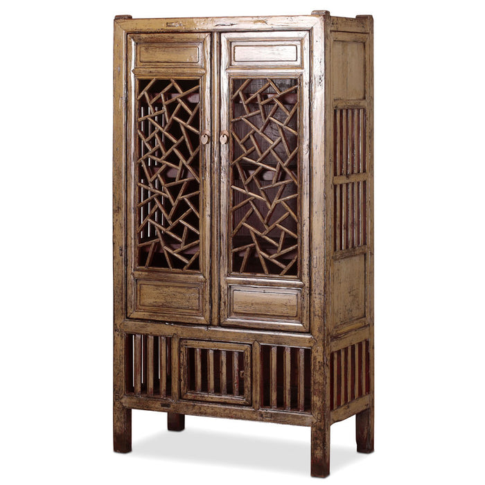 Chinese Lattice Display Cabinet