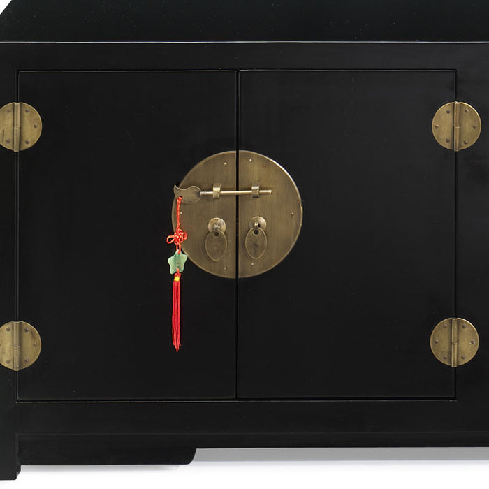 Low Kang Cabinet, Black Lacquer