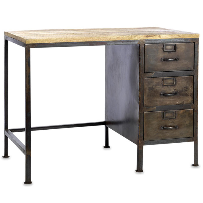 Mansu Iron and Mango Wood Desk