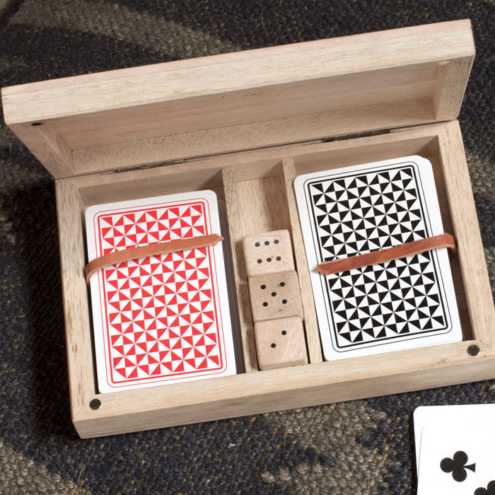 Mango Wood Card and Dice Set