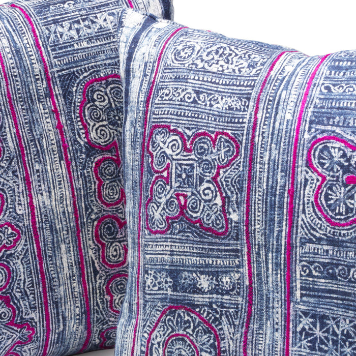 Miao fabric embroidered cushion cover