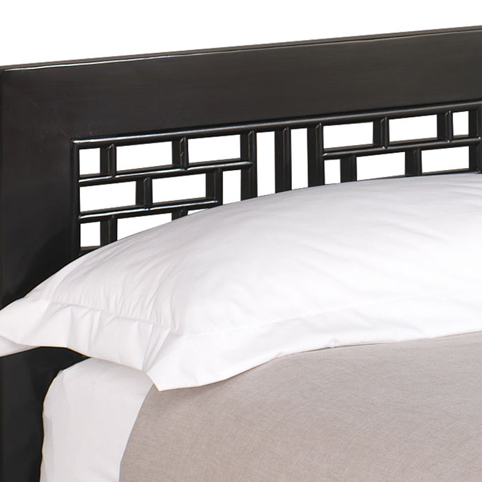 Ming Carved Bed, Black Lacquer