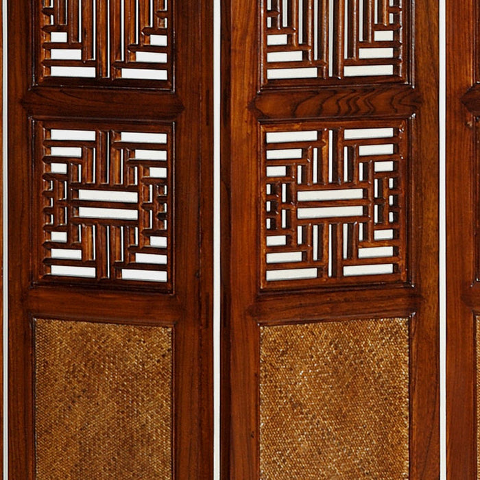 Carved Ming Screen, Warm Elm