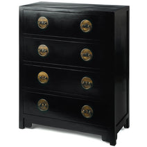 Ming Chest of Drawers, Black Lacquer
