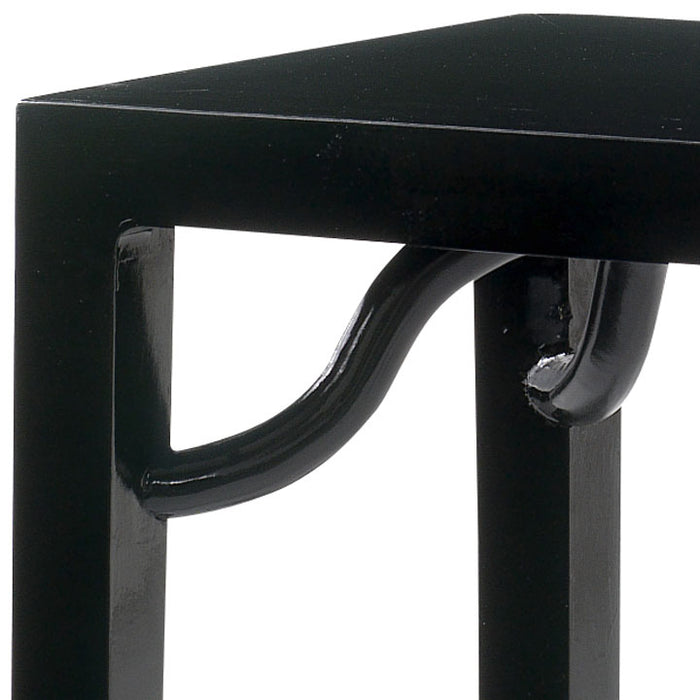 Ming Console Table, Black Lacquer