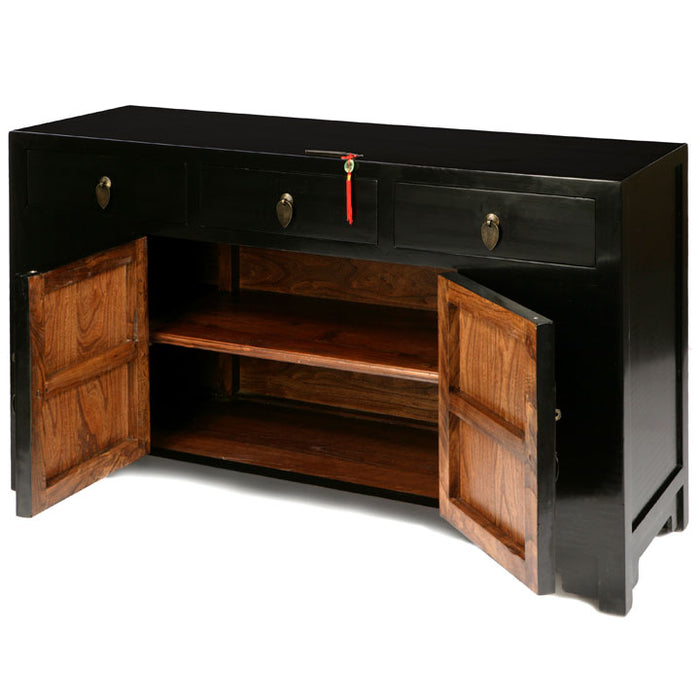 Ming Sideboard, Black Lacquer