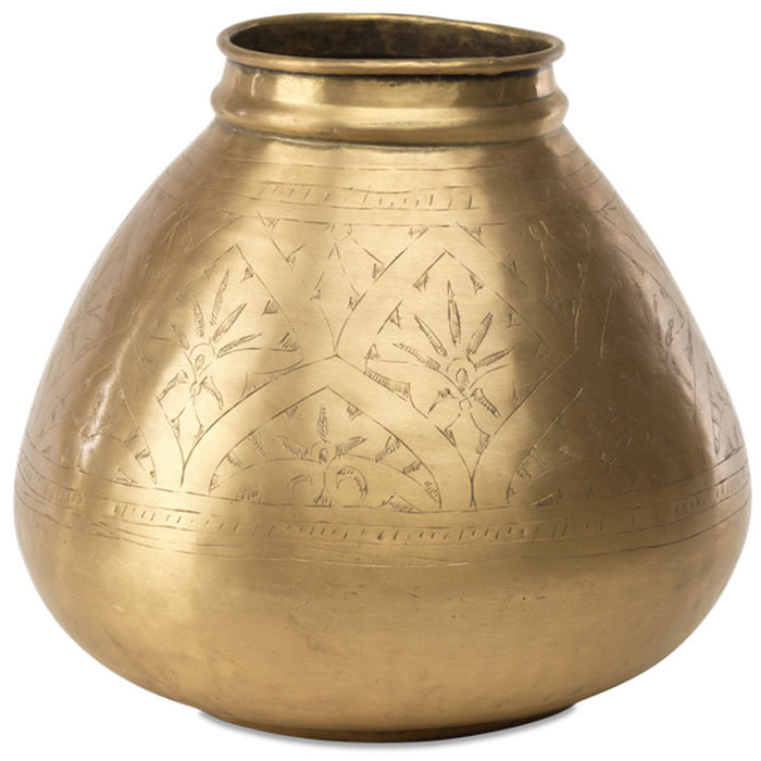 Nami Brass Pot, Round