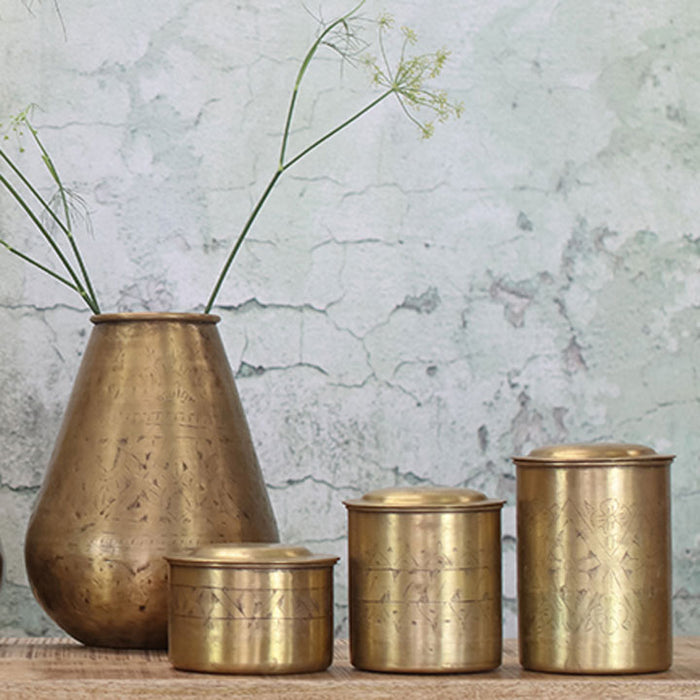 Nami Brass Pot, Tapered